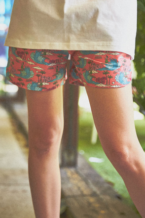 AWESOME IMAGINATION DTP-ALOHA BEACH SHORTS Pink