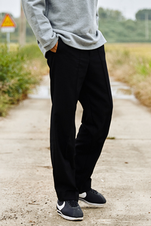 AWESOME IMAGINATION PINTUCK WIDE SLACKS Black