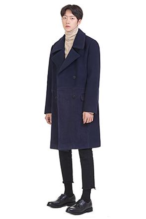 골덴 배색 코트