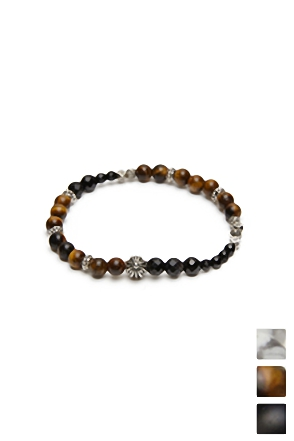 RUDE ORE BEADS BRACELET 원석 비즈 팔찌 [3color / one size]